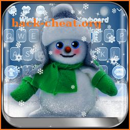 Winter Snowman Keyboard Theme icon