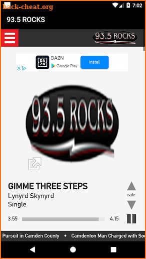 93.5 ROCKS screenshot
