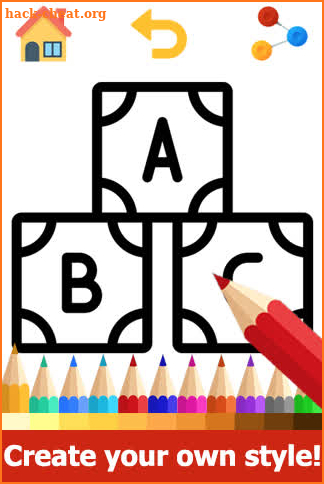 ABC Coloring Pages - Abc coloring book Games screenshot