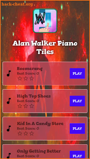 alan piano game screenshot