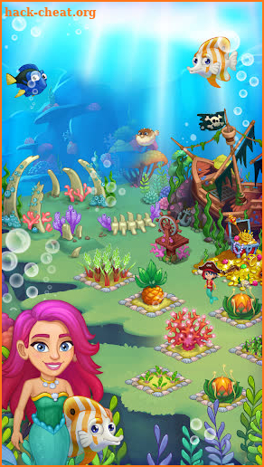 Aquarium Farm: fish town, Mermaid love story shark screenshot