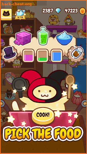Baking of: Food Cats - Cute Kitty Collecting Game screenshot