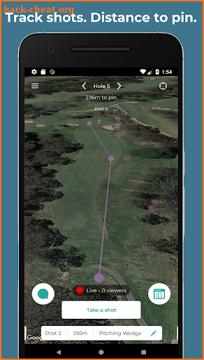 Beagle Golf GPS screenshot