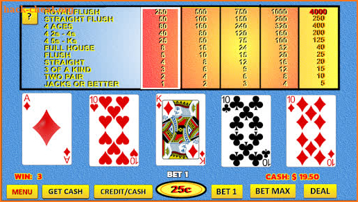 Bonus and Double Bonus Video Poker screenshot