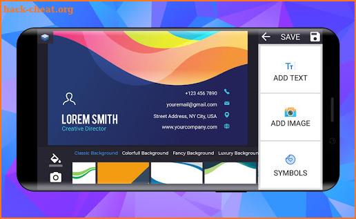 business card maker free visiting card maker photo hacks