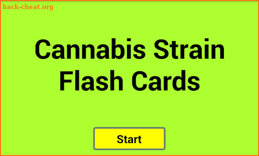 Cannabis Strain Flash Cards screenshot