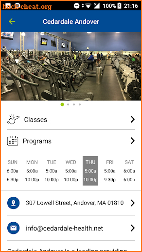 Cedardale Health + Fitness screenshot