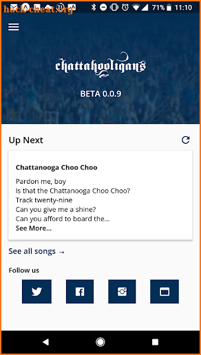 Chattahooligan Hymnal BETA screenshot