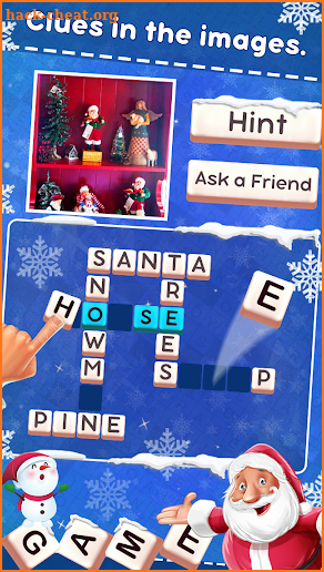 Christmas Word Cross Puzzle screenshot
