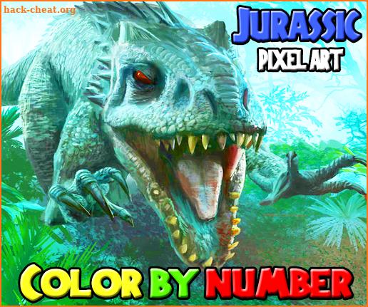 Color by Number: Jurassic Dinosaur Pixel Art Hacks, Tips ...