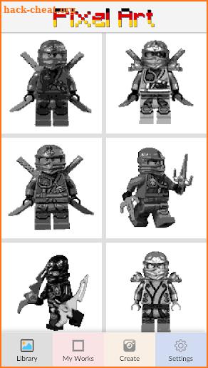 colornumber  lego ninjago pixel art hacks tips