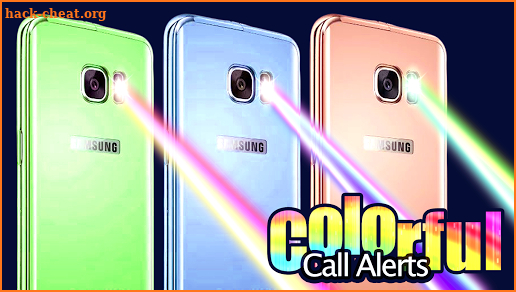 Colorful call alerts screenshot