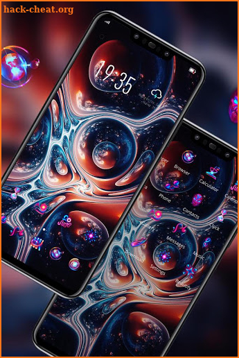 Colorful theme Red bubble starry sky art screenshot
