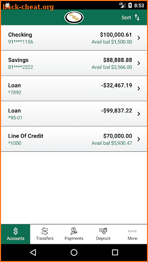 Community Bank of Raymore screenshot