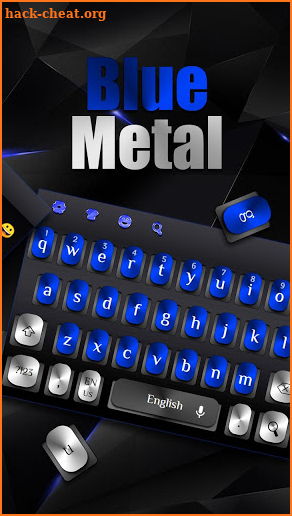Cool Blue Metal Keyboard screenshot