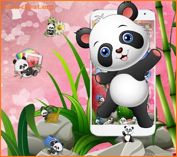 🐼🐼🐼Cute Baby Panda Theme screenshot