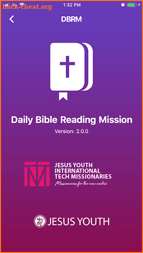 Daily Bible Reading Mission screenshot