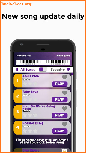 Drake - Gods Plan Piano Tiles 2 screenshot