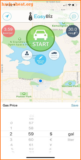 EasyBiz Mileage Tracker - Business Gas Tax Expense screenshot