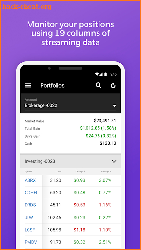 E*TRADE Mobile screenshot