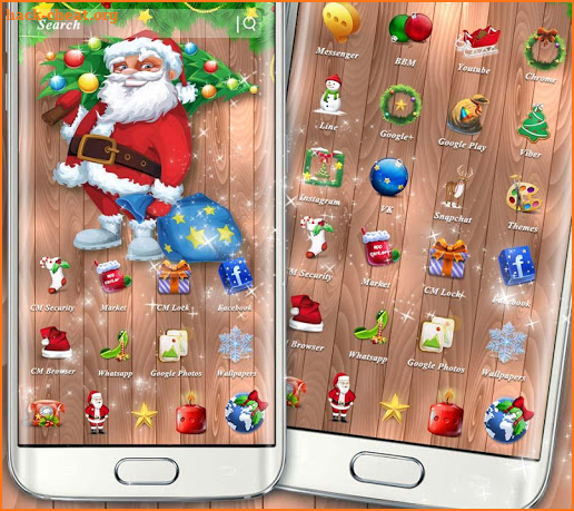 Father Christmas Theme screenshot