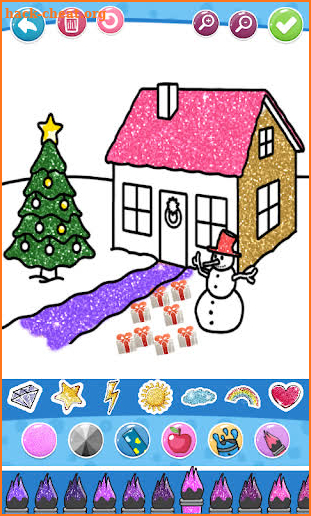 Glitter House Coloring and Drawing for kids screenshot