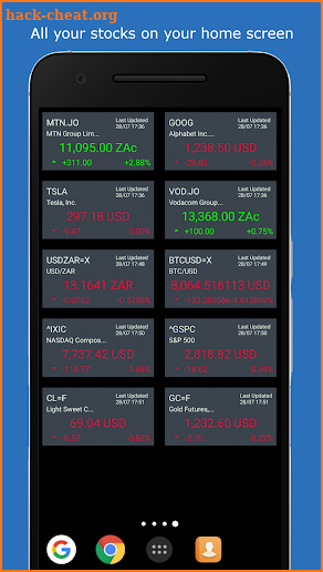 Global Stocks Widget Premium screenshot