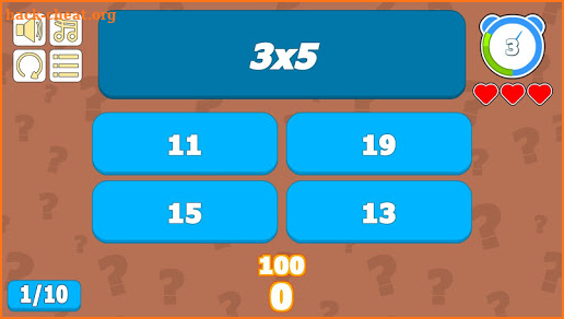 High Level Multiplication Table screenshot