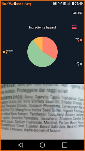 Ingredients Scanner screenshot