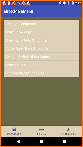 JROTC Guidon screenshot