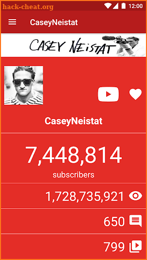 Live YouTube Subscriber Count screenshot
