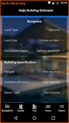 Naija Building Estimator screenshot