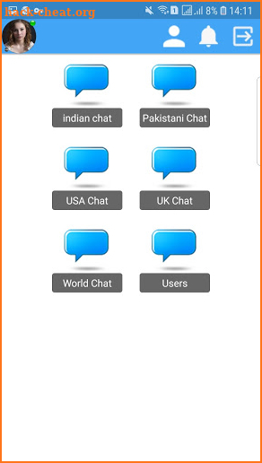 Text chat site