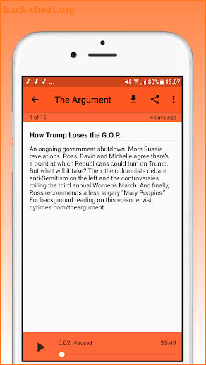 Podcasts : The Argument Podcast screenshot