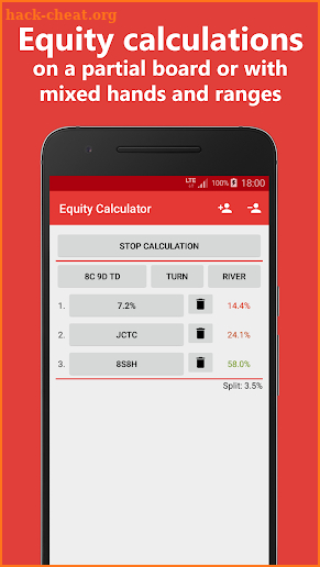 Poker Equity Calculator Pro for No Limit Hold'em screenshot