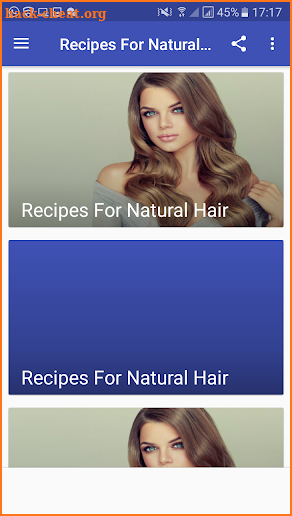 Recipes For Natural Hair screenshot