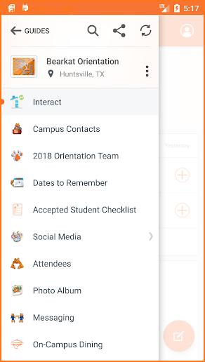 SHSU Guidebook screenshot