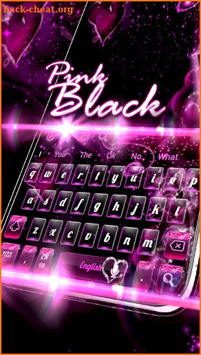 Sparkling Pink Heart Fancy Keyboard Theme Hack Cheats and