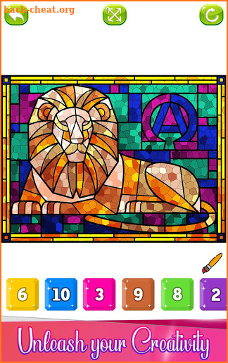 Stained Glass Color by Number: Adult Coloring Book screenshot