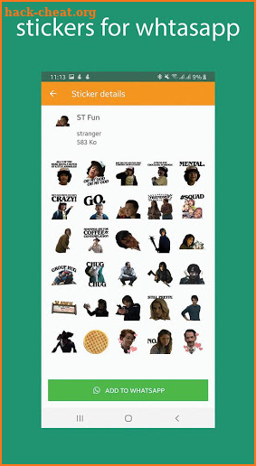 Stranger Stickers for Whatsapp screenshot