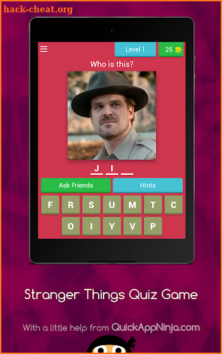 Stranger Things Quiz Game screenshot