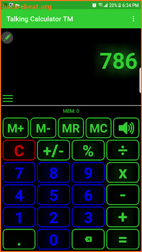 Talking Calculator Pro screenshot