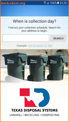 Texas Disposal Waste Wizard screenshot