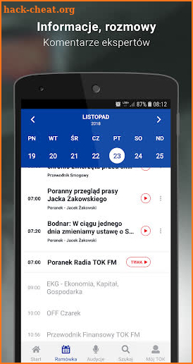 TOK FM screenshot