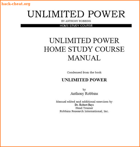 Unlimited Power By Anthony Robbins screenshot