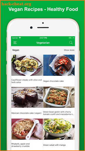 Vegan Recipes - Healthy Food screenshot