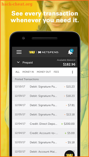 Western Union Netspend Prepaid screenshot