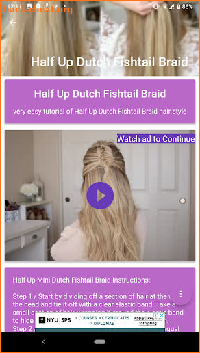 Women Hairstyle Tutorials screenshot