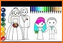 Wedding Coloring Pages Bride And Groom related image